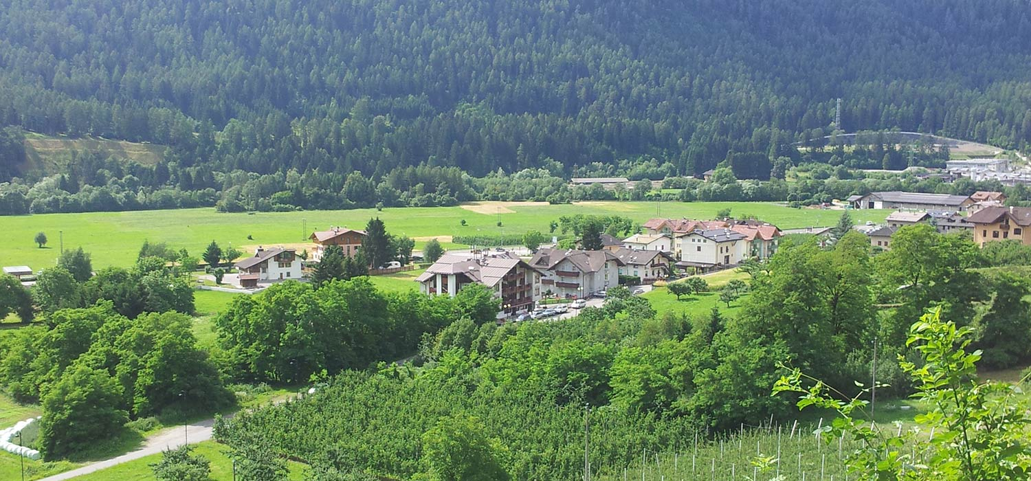 Panoramic shot of Monclassico in Val di Sole.